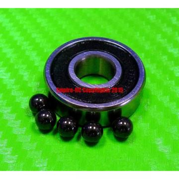 [QTY10] (12x28x8 mm) S6001-2RS Stainless HYBRID CERAMIC Ball Bearings BLK 6001RS