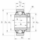 E20-KRR Radial insert ball bearings